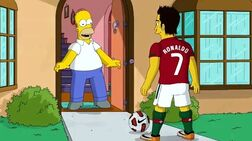 Homer and Ronaldo
