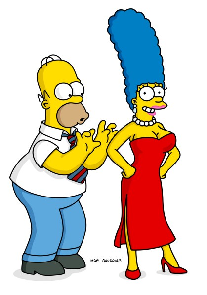 Marge with boob implants