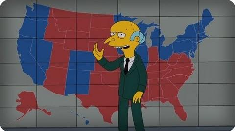 Mr. Burns Endorses Romney The Simpsons Animation on FOX