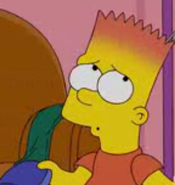 Bart simpsons natural red hair