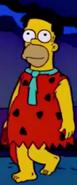 Homer as Fred Flintstone