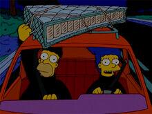 Marge homer ladrões colchão 3