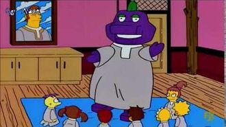 I Simpson Barney the Dinosaur - We Love Him, He Loves We (Sub Ita)