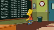 Politically Inept, with Homer Simpson Chalkboard gag