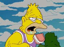 Vovô perdendo dentadura corrida