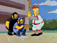 Homer at bat