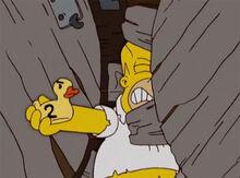 Homer patinho engrenagens