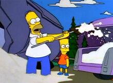 Homer roubando açucar