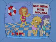 Francine Waves At Lisa