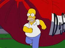Homer fugindo queda balão duff