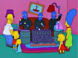 Blue Man Group couch gag