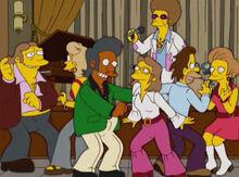 Barney apu lenny dança anos70