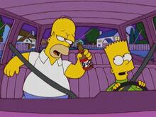 Homer bebado bart volante 18x12