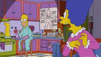 Homer smaży swoją nogę