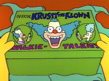 Walkie talkies krusty presente