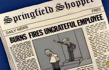 Jornal burns demite homer ingrato