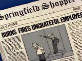 Homer Despedido - Artigo