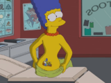 Marge's Tattoo couch gag
