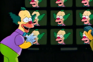 Krusty watching krusty on so many TVs
