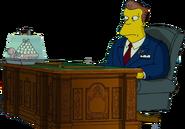 Arnold Schwarzenegger in The Simpsons Movie