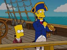 Bart capitão skinner barco