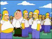 Peter Griffin como um dos clones de Homer
