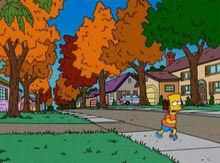 Bart fugindo chegada outono