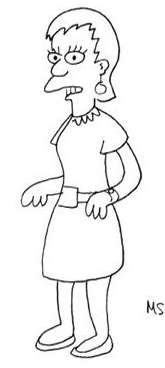 Early Design of Edna Krabappel