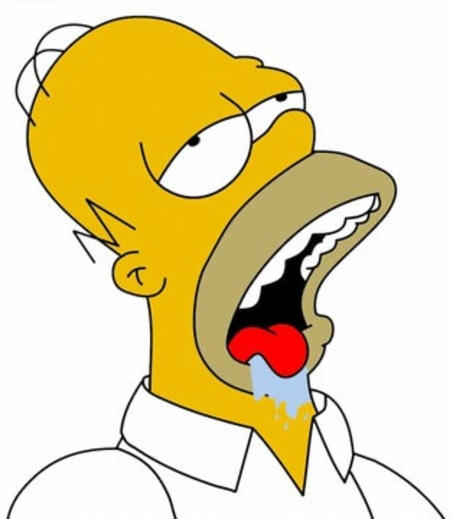 Free images of homer simpson drooling