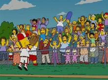 Bart comemora beisebol 18x18