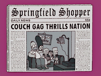 Simpsons Christmas Stories Couch Gag
