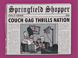 Spinning Newspaper couch gag