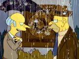 """Vovô Simpson e seu neto em """"A Maldição dos Infernais Peixes Voadores"""""""