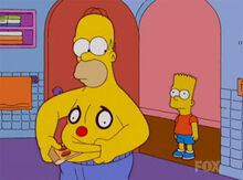 Bart homer pizza banheiro