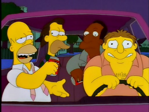 Barney driving