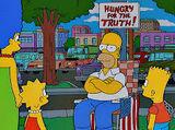 Homer fait la grève de la faim