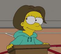 Lisa z brązowymi włosami
