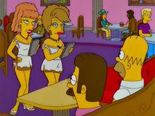 Homer e ned encontram amber e ginger
