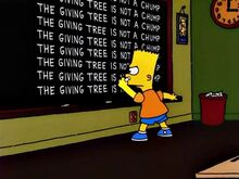 The Bart Wants What It Wants Chalkboard Gag