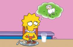 Lisa as a vegetarian
