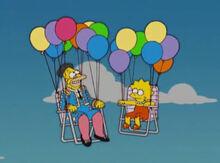 Vovô simpson lisa cadeiras balões
