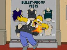 Homer colete prova balas tiro