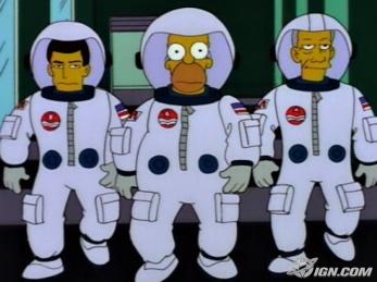 Homer Simpson as an Astronaut