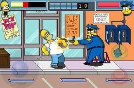 Simpsons app fight wiggum