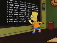 Bart Star Chalkboard Gag