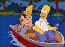 Homer vovô primeira pesca