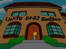 Lisa eu odeio bart 18x18 01