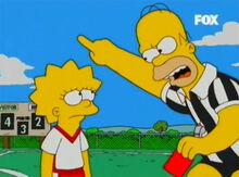 Homer cartão vermelho lisa fora