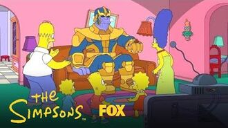 Thanos Visits The Simpsons Season 30 Ep. 12 THE SIMPSONS-1