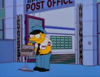 Hans moleman closes the post office